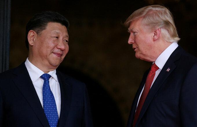 Tổng thống Mỹ Donald Trump và Chủ tịch Trung Quốc Tập Cận Bình. Ảnh:Reuters