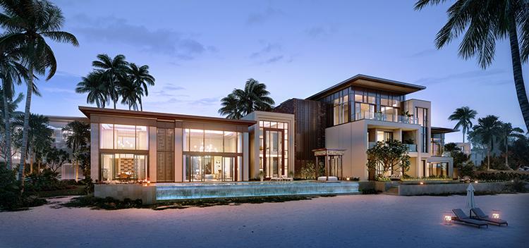 Phối cảnh dinh thự InterContinental Residences Halong Bay.