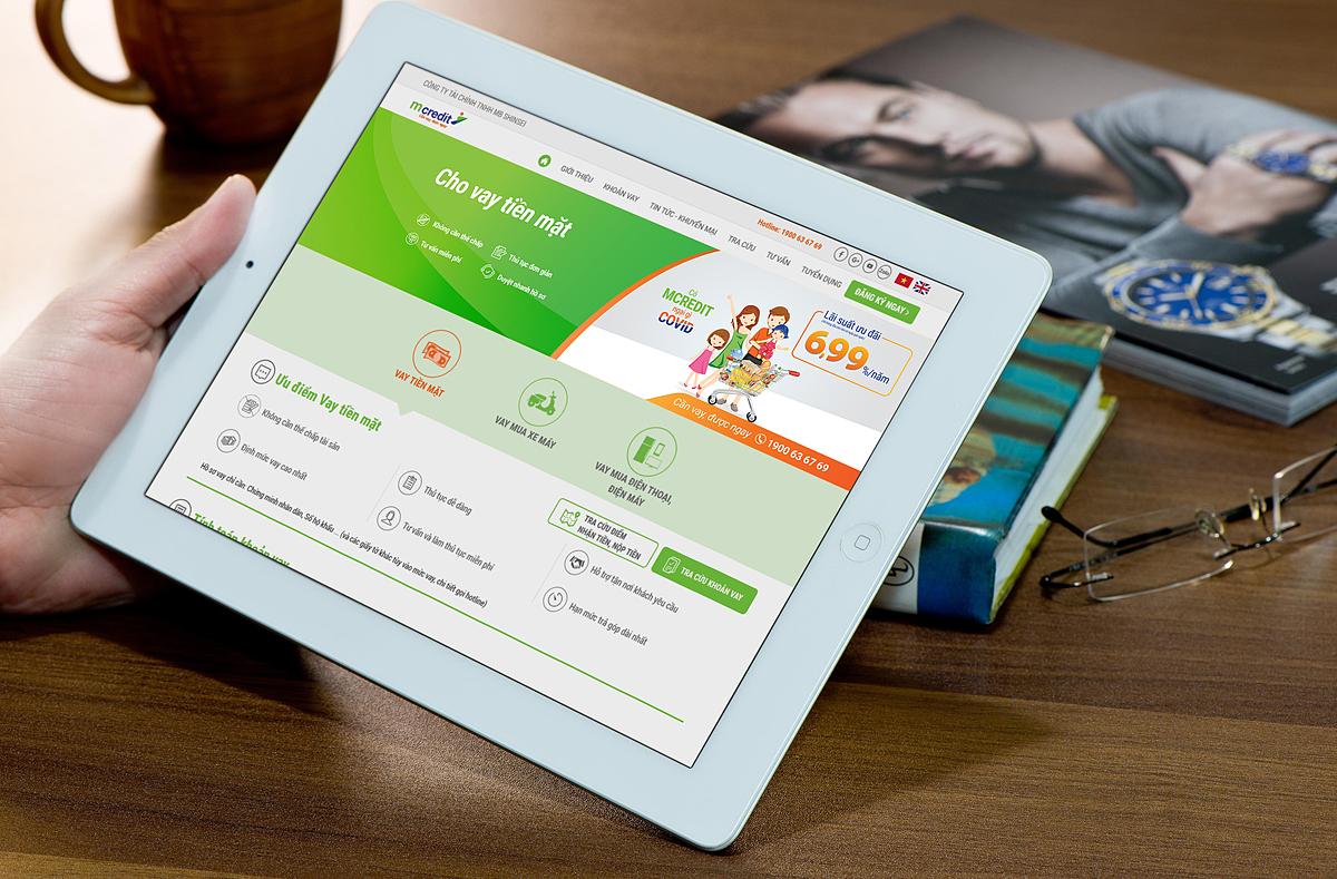 Mcredit tăng cường các kênh thanh toán online hỗ trợ khách hàng. Ảnh: Mcredit.