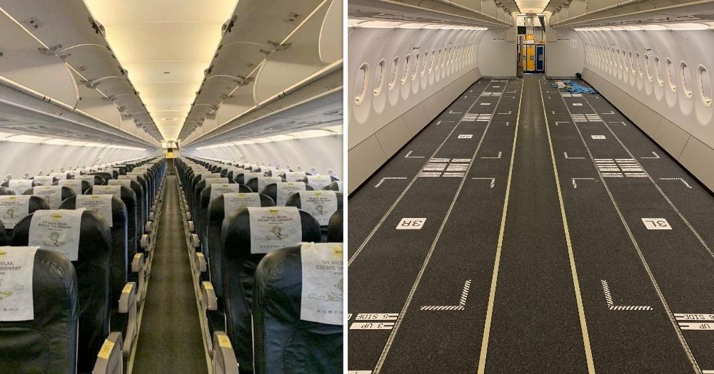Máy bay của Scoot được gỡ ghế hành khách. Ảnh: Scoot.