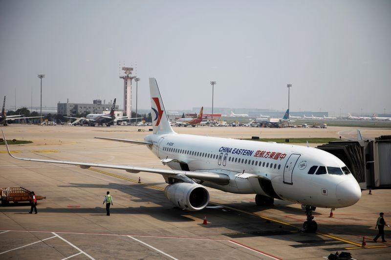 Một chiếc máy bay của China Eastern đỗ tại sân bay Bắc Kinh ngày 22/7. Ảnh: Reuters