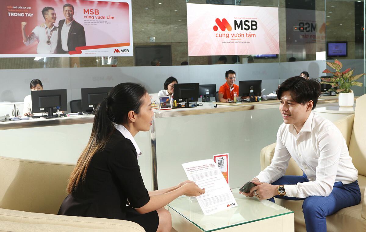 Công nghệ sinh trắc học giúp nâng cao trải nghiệm và tính bảo mật cho khách hàng khi giao dịch tại quầy. Ảnh: MSB.