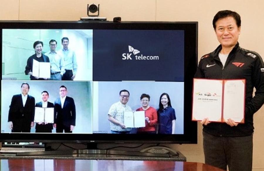 Liên doanh trong lĩnh vực Game, Esports giữa SK Telecom, Singtel và AIS ký kết trực tuyến trong bối cảnh Covid-19.