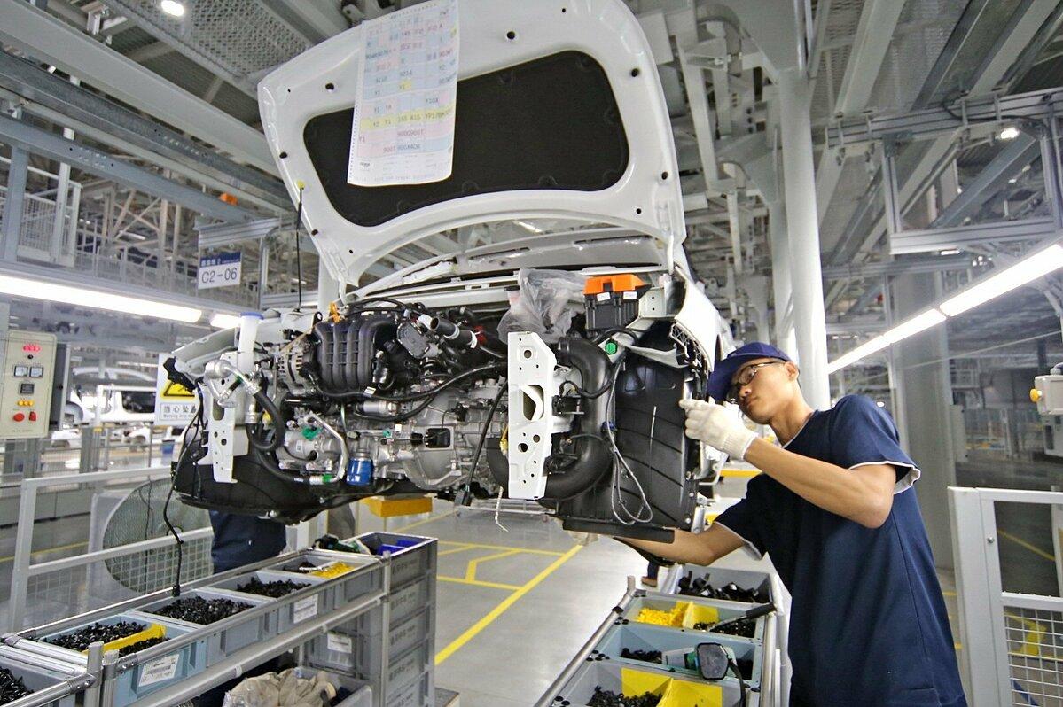 Lao động trong nhà máy của Hyundai Motor tại Thương Châu (Trung Quốc). Ảnh: Yonhap