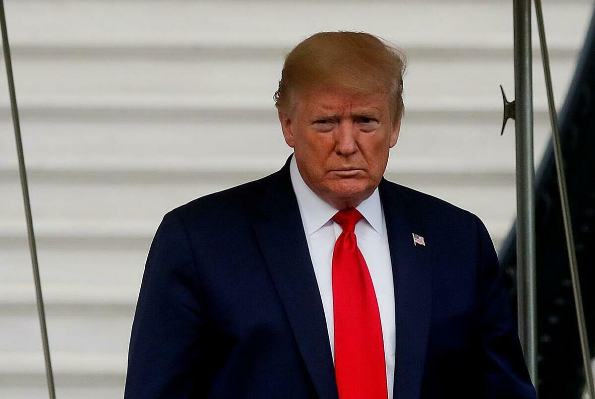 Tổng thống Mỹ Donald Trump trong một sự kiện tháng 5. Ảnh: Reuters