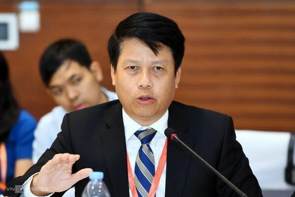 Ông Phạm Tiến Dũng phát biểu tại một sự kiện. Ảnh: Giang Huy.
