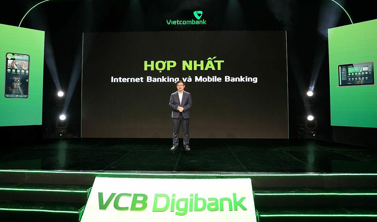 Lễ ra mắt ngân hàng số VCB Digibank. Ảnh: Vietcombank.
