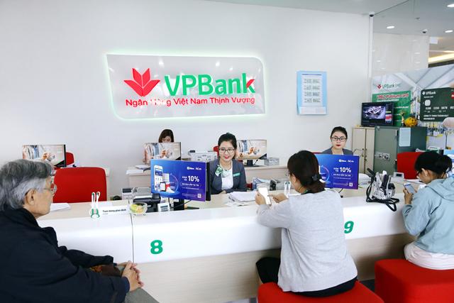 Quầy giai dịch của VPBank.