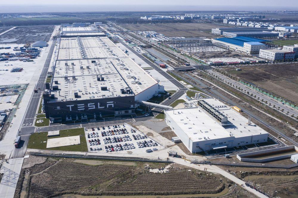 Nhà máy Gigafactory của Tesla tại Thượng Hải. Ảnh: Bloomberg