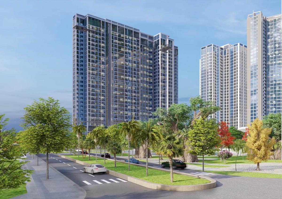 Eco Green Sài Gòn được xướng tên với giải thưởng Dự án khu phức hợp có kiến trúc tốt nhất. Ảnh phối cảnh: Xuân Mai Sài Gòn.