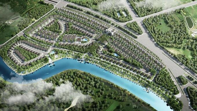 Phối cảnh phân khu 1.1  1.1 - Zeit River County 1 thuộc khu đô thị Zeitgeist. Ảnh: VGSI.
