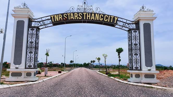 Cổng vào dự án TNR Stars Thắng City.