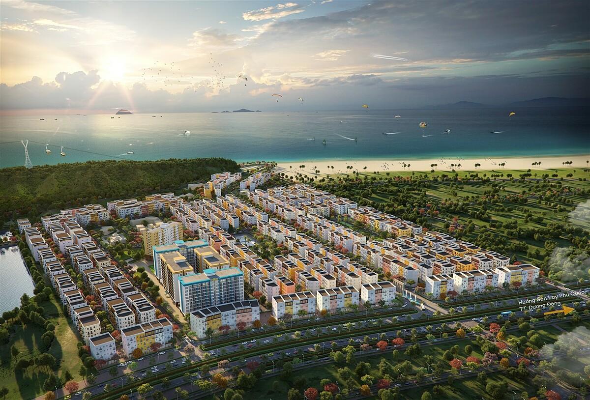 Ngay trong hệ sinh thái Nam Phú Quốc sẽ có một khu đô thị đảo đa chức năng hoàn chỉnh. Ảnh phối cảnh Sun Grand City New An Thoi.