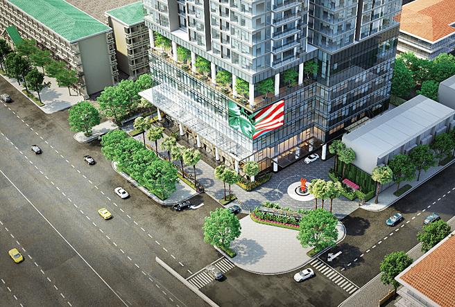 Dự án The Nine, nằm tại góc đường Phạm Văn Đồng và Doãn Kế Thiện.