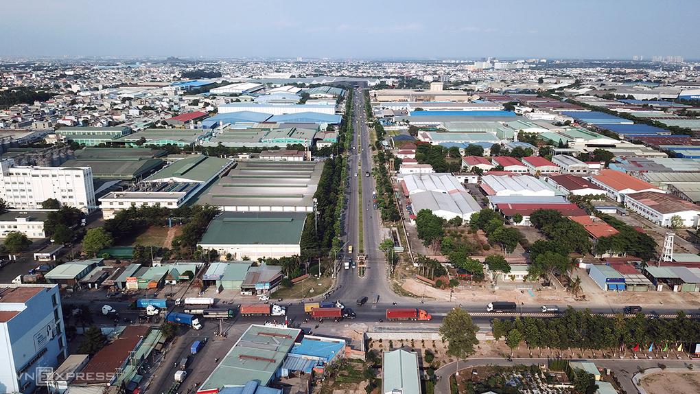 Khu công nghiệp Sóng Thần, huyện Dĩ An, tỉnh Bình Dương. Ảnh:Lê Tiên.