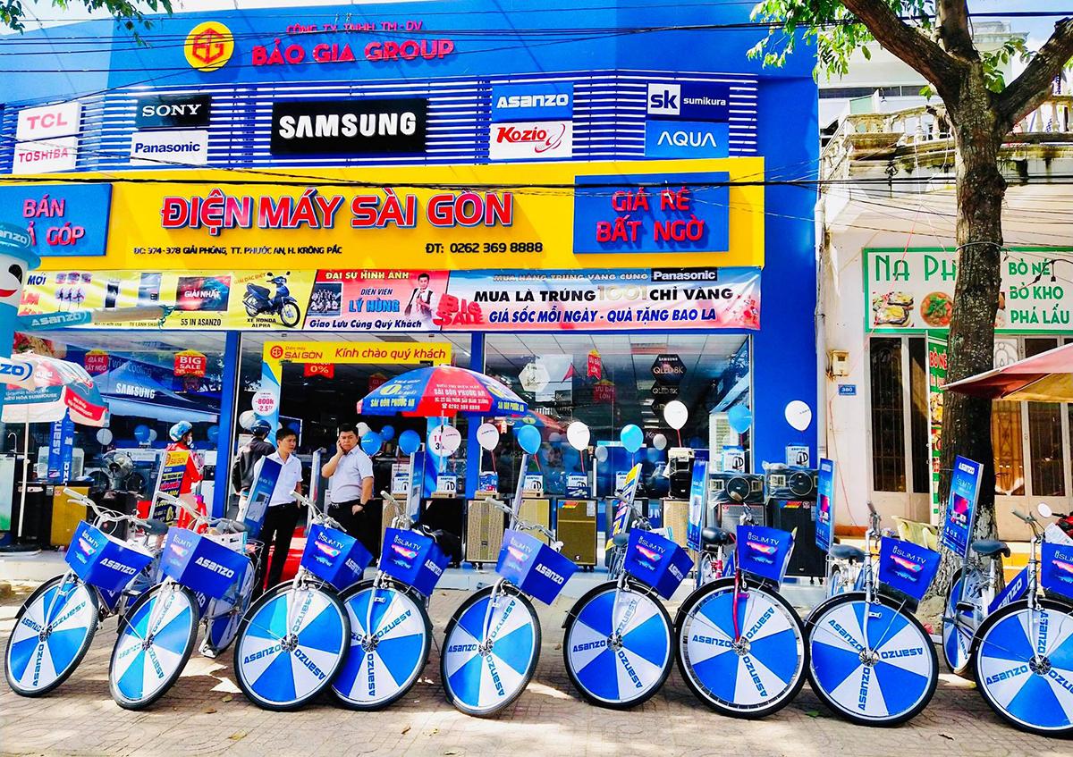 Một chiến dịch quảng bá tại siêu thị điện máy Sài Gòn.