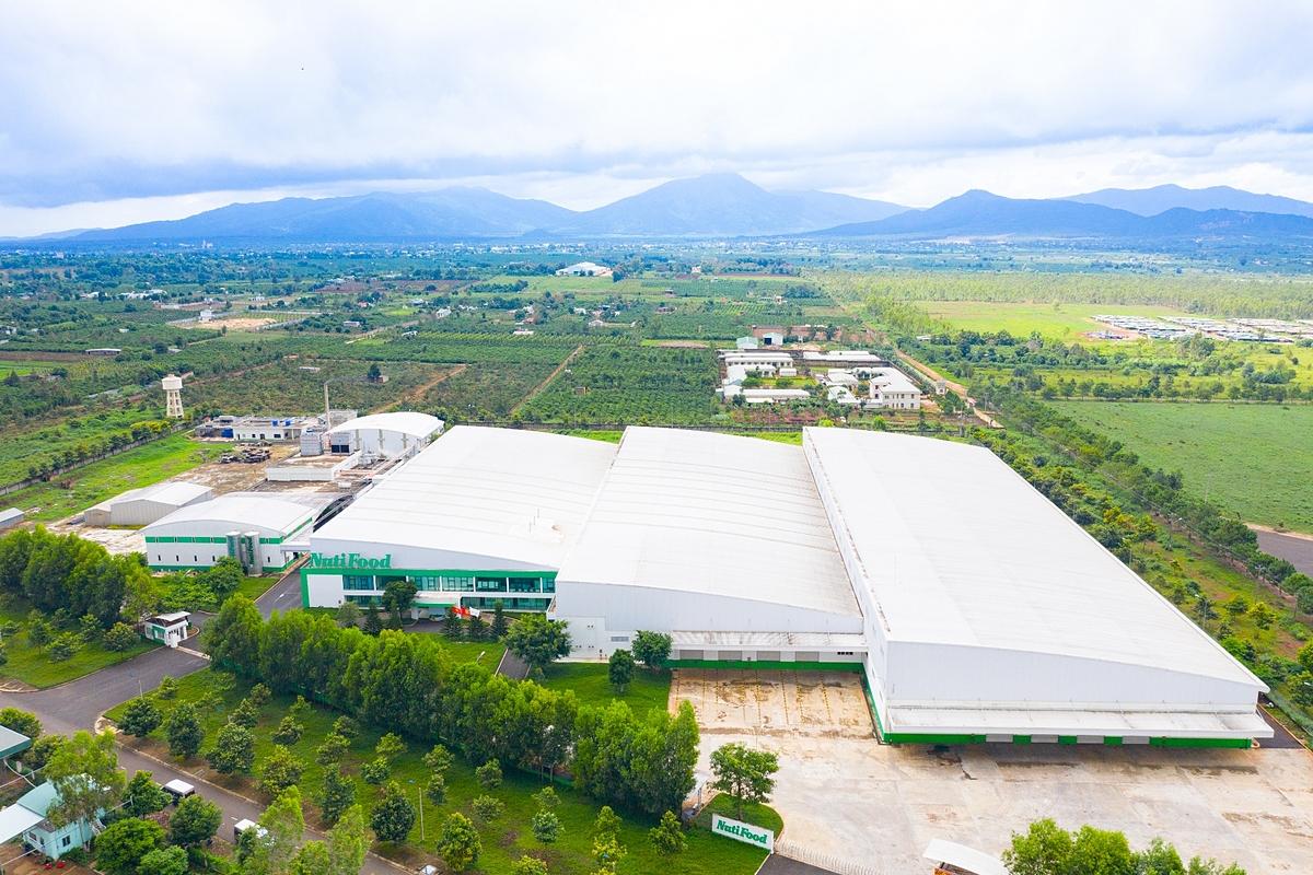 Toàn cảnh nhà máy sữa NutiMilk tại Gia Lai. Ảnh: NutiFood.