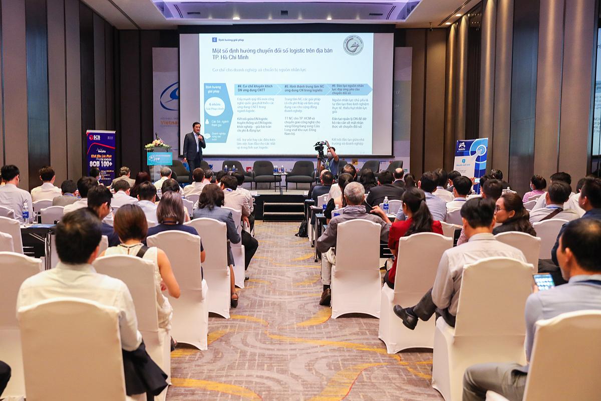Hội thảo chuyên đề Sáng tạo, năng động trong hoạt động quản lý logistics thuộc khuôn khổ Hội thảo quốc gia về chính phủ điện tử 2020. Ảnh: Quỳnh Trần.