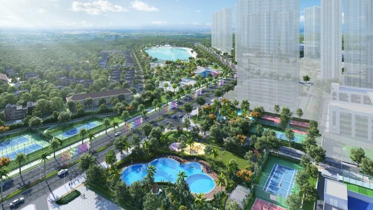 Không gian sống xanh trong đô thị Vinhomes Smart City.
