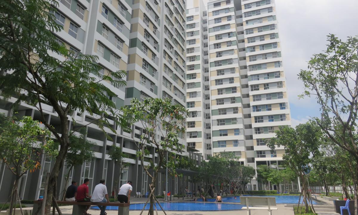 Một dự án chung cư thuộc phân khúc bình dân tại phường Cát Lái, quận 2, TP HCM. Ảnh: My House.
