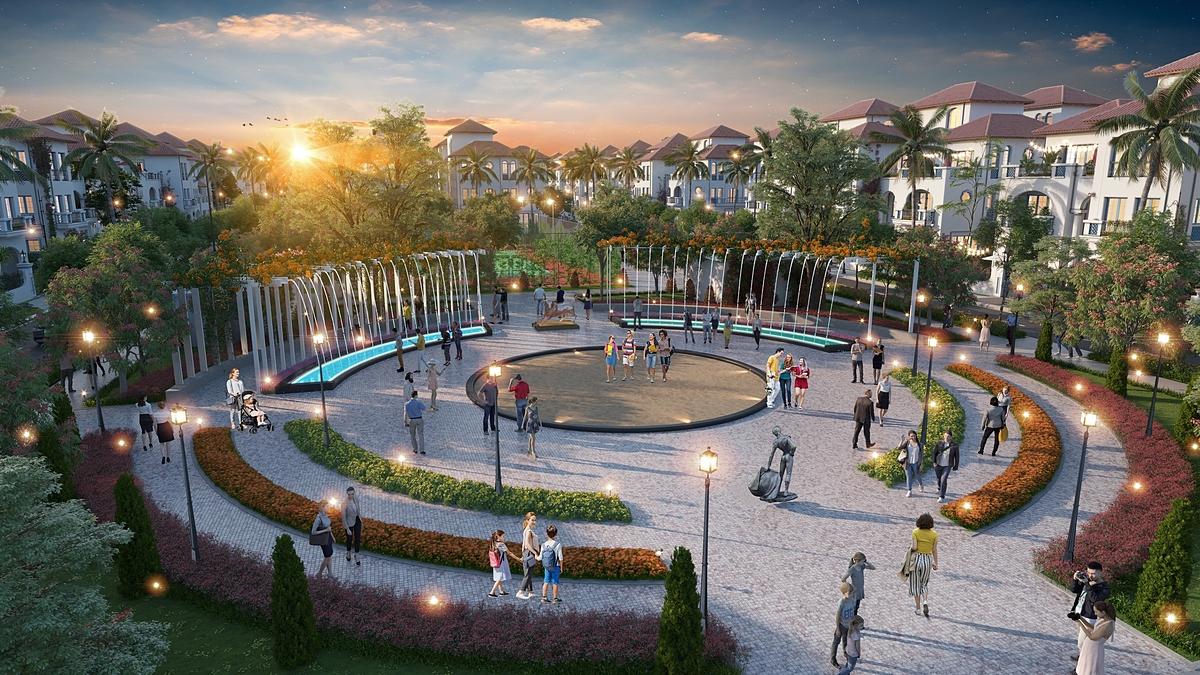 Ảnh 3 - Sun Grand City Feria sở hữu 6 công viên, sân chơi thể thao theo phong cách Tây Ban Nha. Ảnh phối cảnh: Sun Group.