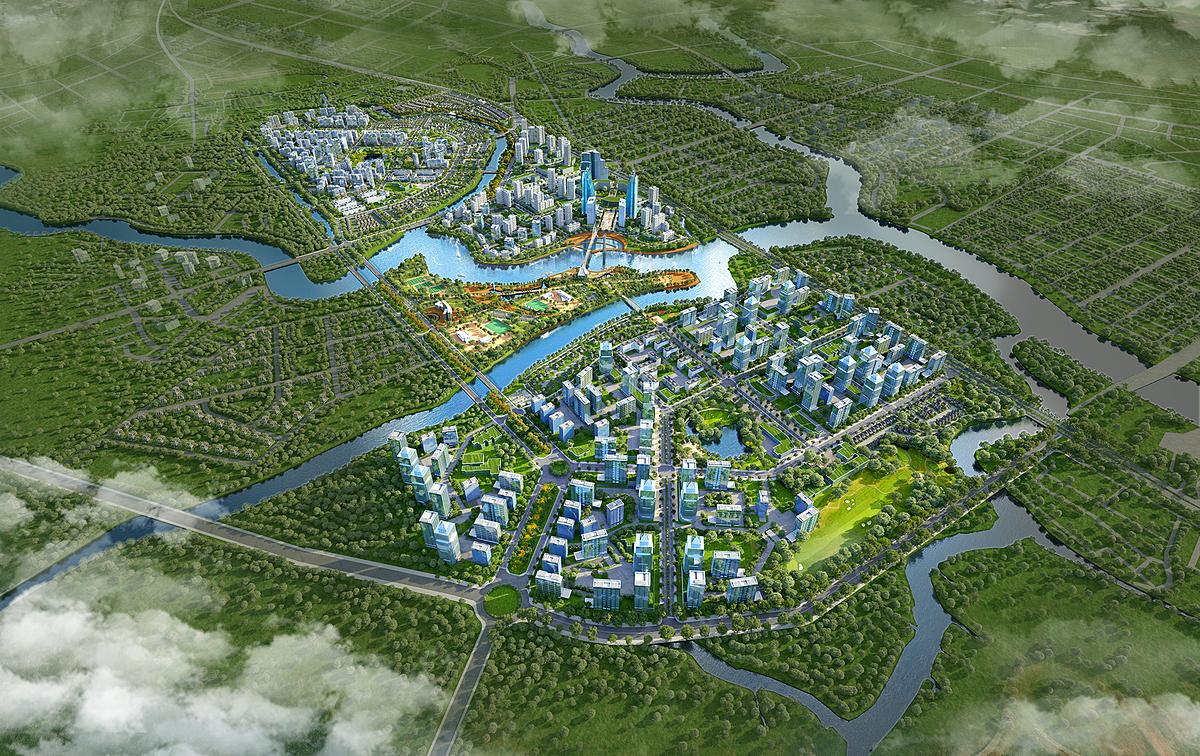 Phối cảnh dự án khu đô thị Zeitgeist. Ảnh: VGSI.