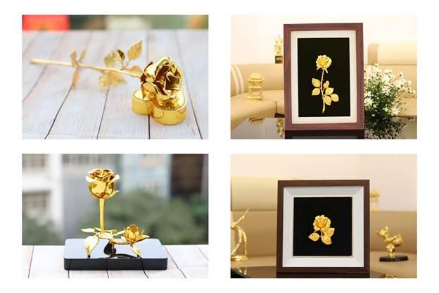 Bộ sưu tập hoa hồng mạ vàng với nhiều phong cách thiết kế khác nhau