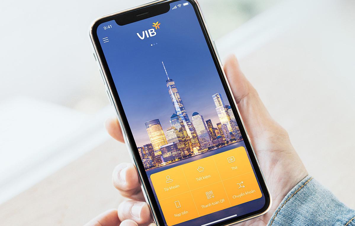 Ứng dụng ngân hàng số MyVIB cung cấp đa dạng tiện ích, dịch vụ tài chính hàng ngày. Ảnh: VIB.