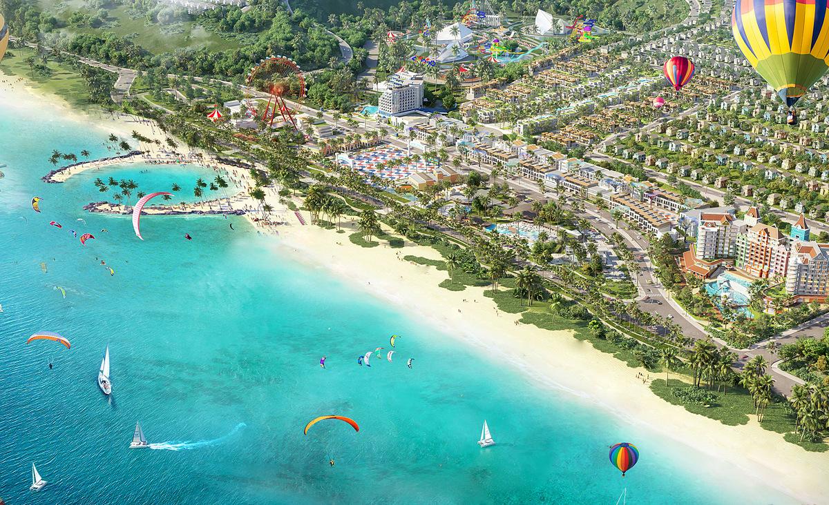 NovaWorld Phan Thiet quy mô 1.000 ha với vốn đầu tư 5 tỷ USD giai đoạn 1. Ảnh phối cảnh: Novaland.