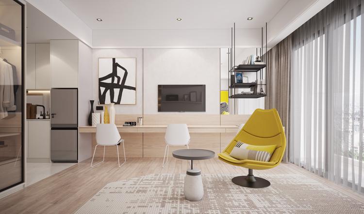 Không gian thiết kế đơn giản, trẻ trung và linh hoạt