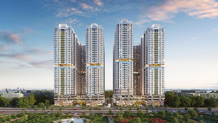 Phối cảnh phức hợp thương mại và căn hộ cao cấp Astral City.