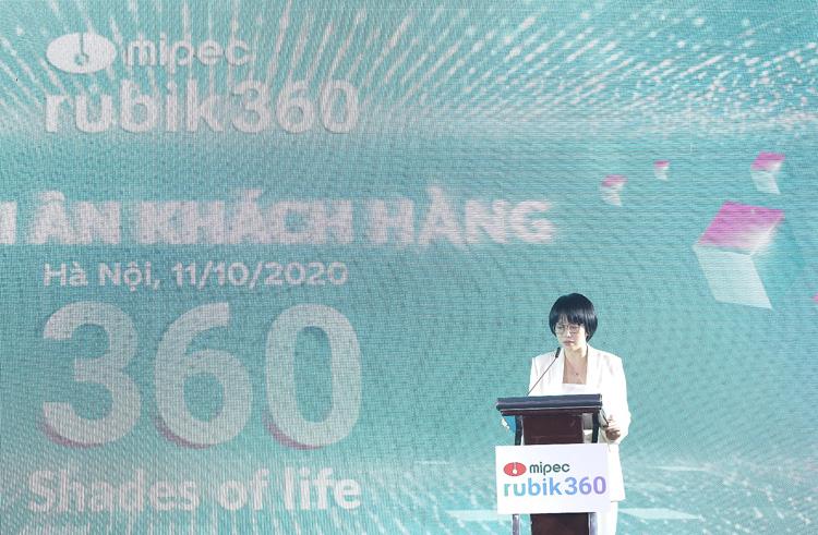 Bà Nguyễn Quỳnh Anh – Phó Tổng Giám đốc Công ty cổ phần Đầu tư và Kinh doanh bất động sản Central Land phát biểu tại buổi lễ.