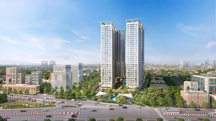 Phối cảnh dự án căn hộ chung cư tại Thuận An, Bình Dương.