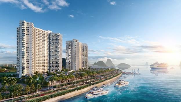 Phối cảnh dự án căn hộ nghỉ dưỡng cao cấp của Chủ đầu tư DOJILAND tại số 1 Bến Đoan, phường Hồng Gai, TP. Hạ Long