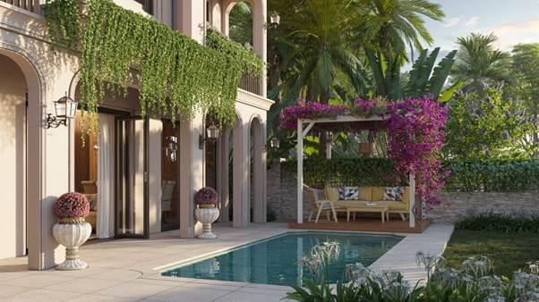 Các chủ nhân tương lai thỏa thích tận hưởng những sắc thái khác nhau của cảnh sắc thiên nhiên, hít thở không khí trong lành ngay tại vườn nhà