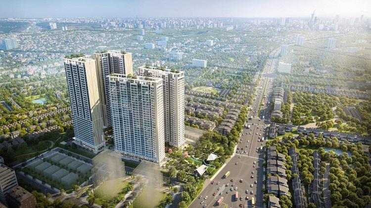 Anderson Park tọa lạc ngay nút giao Nguyễn Thị Minh Khai và Đại lộ Bình Dương (phường Thuận Giao, thành phố Thuận An).