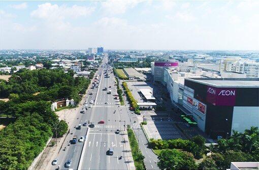 Một góc thành phố Thuận An. Ảnh: Baobinhduong.