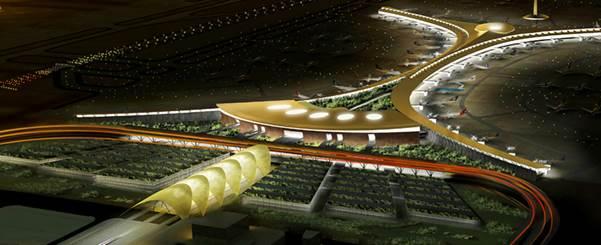 Atkins được bổ nhiệm làm nhà thiết kế chính cho dự án mở rộng sân bay quốc tế King Abdulaziz ở Jeddah. Ảnh phối cảnh dự án: Atkins.
