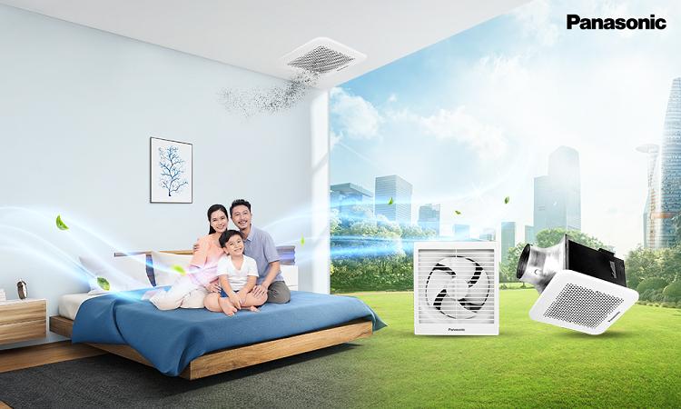 Quạt hút Panasonic mang lại nhiều công dụng cho các gia đình
