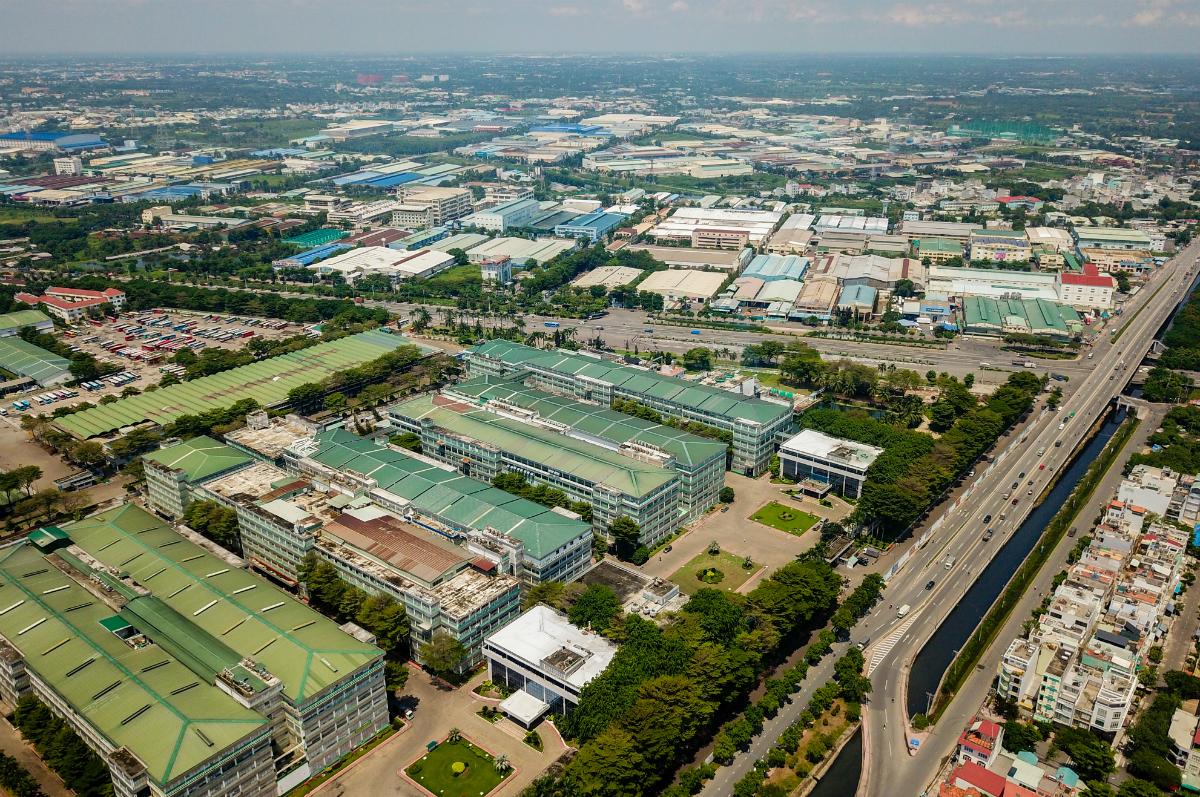 Khu công nghiệp Tân Tạo (quận Bình Tân, TP HCM) vào  tháng 7/2020, Ảnh: Quỳnh Trần.