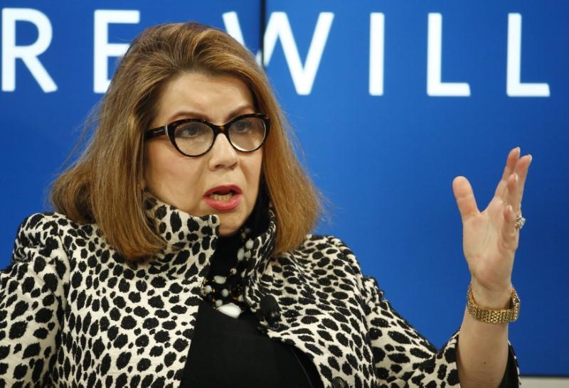 Kinh tế trưởng của Ngân hàng Thế giới (WB) Carmen Reinhart. Ảnh: Reuters