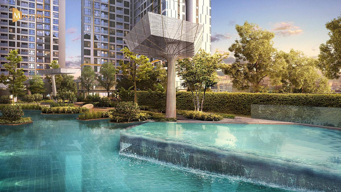 Với hơn 70% diện tích xây dựng được sử dụng cho cảnh quan và các mảng xanh đã đưa Masteri Centre Point chiến thắng Giải Thiết kế Cảnh quan cho dự án Cao cấp (Best High End Condo Landscape Architectural Design, highly commened).