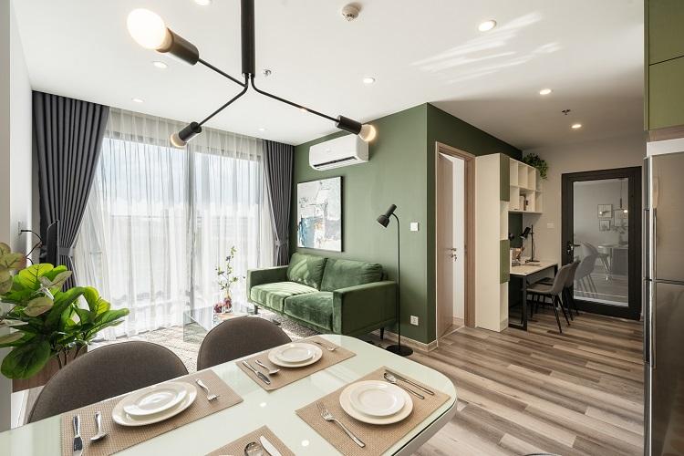 Căn hộ mẫu hai phòng ngủ +1 tại phân khu Sapphire 2, dự án Vinhomes Smart City.