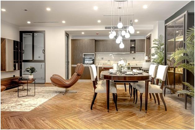 Thiết kế hiện đại trong căn hộ The Summit 216.
