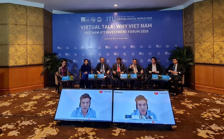 Phiên thảo luận trực tuyến Why Việt Nam (Tại sao Việt Nam) trong khuôn khổ Hội nghị và Triển lãm Thế giới số ITU Digital World 2020. Ảnh: ITU