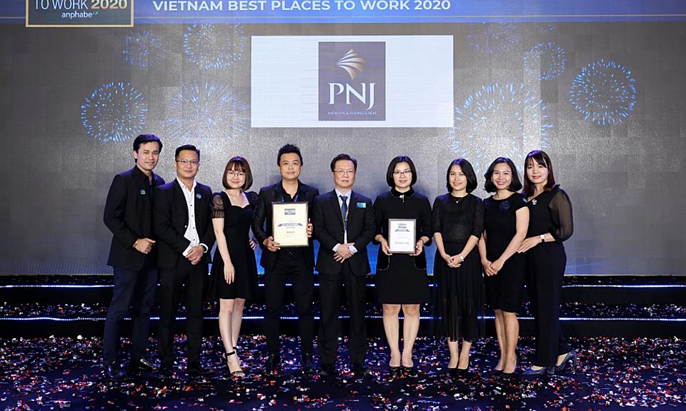 PNJ được vinh danh 'Môi trường làm việc tốt nhất'