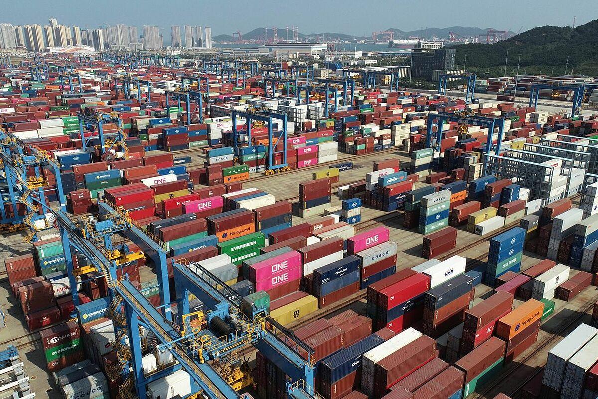 Cảng Thanh Đảo, tỉnh Sơn Đông, Trung Quốc vào tháng trước. Ảnh: