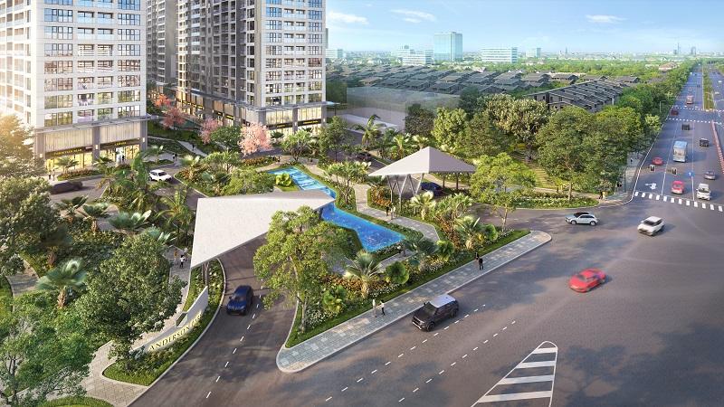 Anderson Park diễn ra tại giao điểm Nguyễn Thị Minh Khai và Đại lộ Bình Dương, phường Thuận Giao, thành phố Thuận An, Bình Dương
