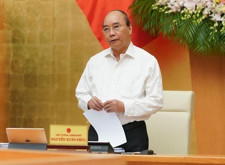 Thủ tướng Nguyễn Xuân Phúc cho biết mục tiêu Chính phủ năm tới tiếp tục kiểm soát chặt chẽ, không lơ là với dịch bệnh. Ảnh: VGP.