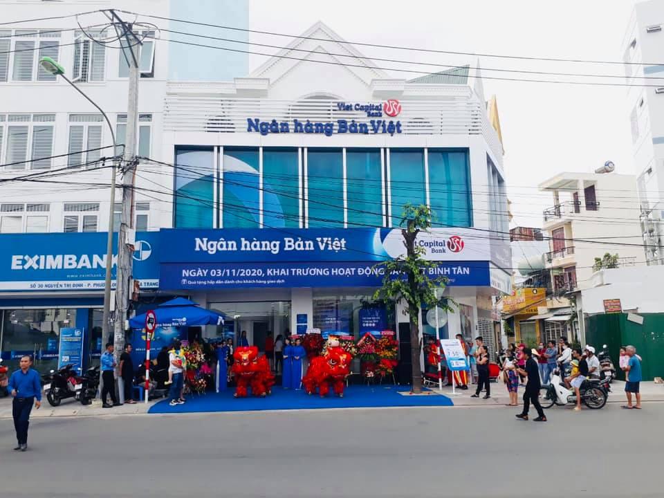 Phòng giao dịch Bình Tân của ngân hàng Bản Việt nằm tại số 32 đường Nguyễn Thị Định, phường Phước Long, TP Nha Trang, Khánh Hòa. Ảnh: Bản Việt.